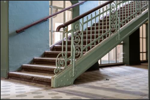 Treppen in Beelitz Heilstätten